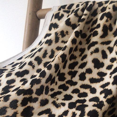crêpe de viscose léopard