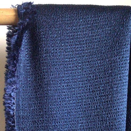 Crêpe gaufré bleu marine