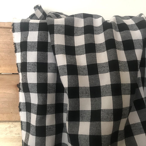Vichy medium noir et blanc - carreaux 16 mm