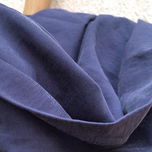 Viscose structuré lavé bleu marine