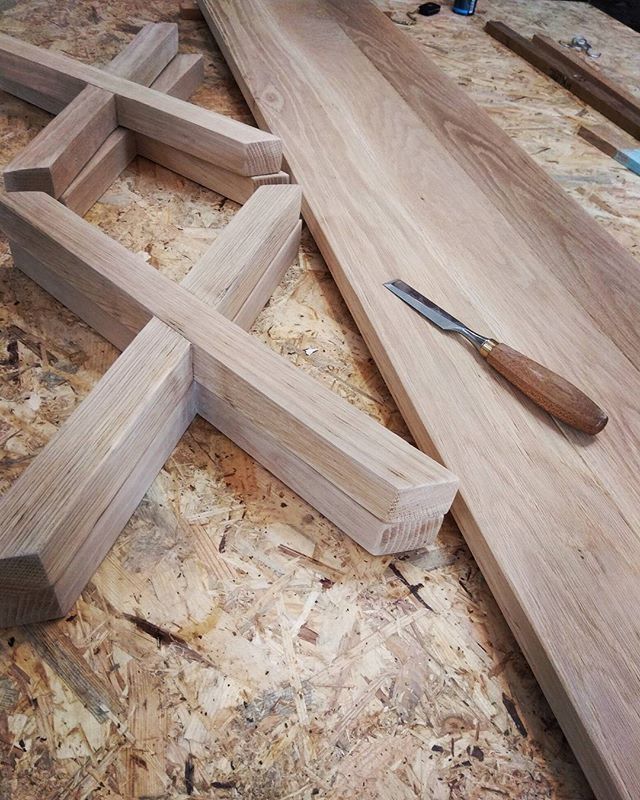 #Oak #benches for the #diningtable it's