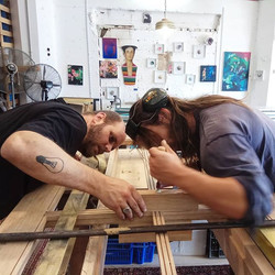Glue up of the doors is done_Moving on �