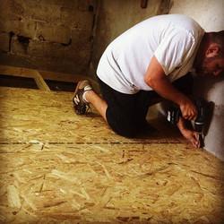 הרצפה הראשונה שלי_חדר צבע כמעט מוכן 🔨🔩