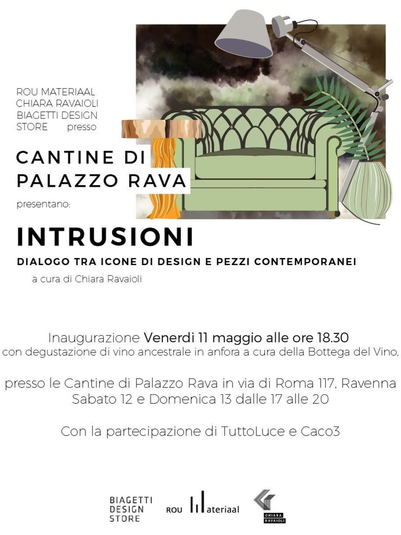"EXHIBITION ""INTRUSIONI"" CANTINE DI PALAZZO RAVA - RAVENNA- MAY 2018"