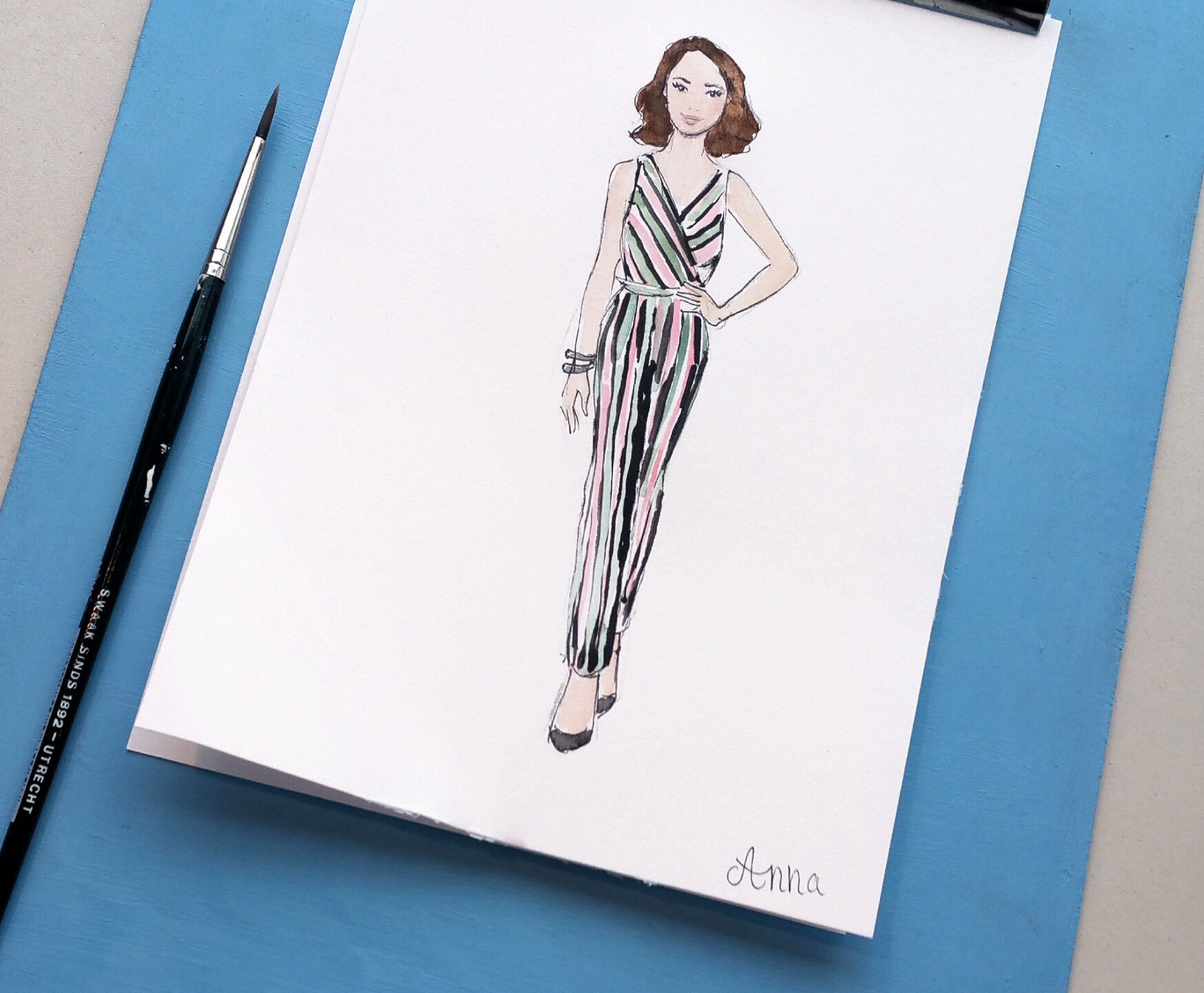 Live sketching at Maggy's Fashion