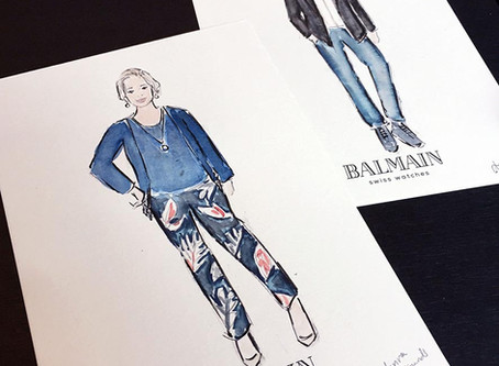 Fashionable live art for Balmain Watches in Brussels!