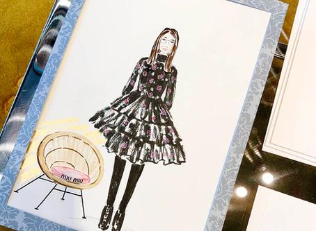 In-store live illustrations for MIU MIU in Dusseldorf