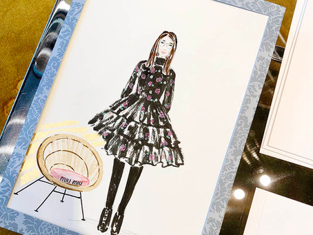 In-store live illustrations for MIU MIU in Dusseldorf