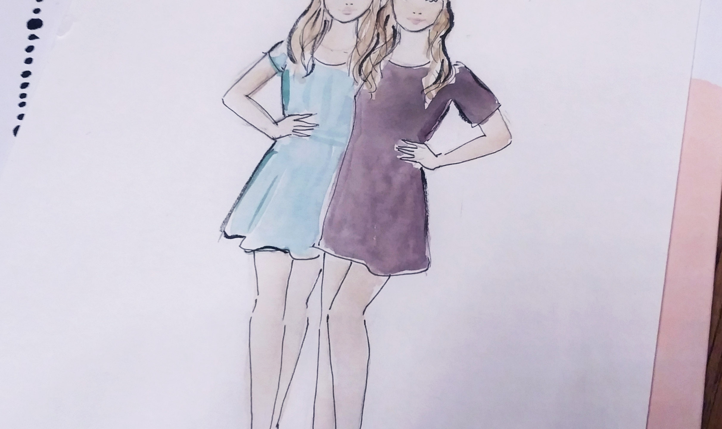Live sketching at the Grazia event