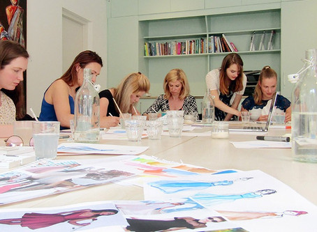 This was the fashion illustration workshop themed Glamorous Dresses!