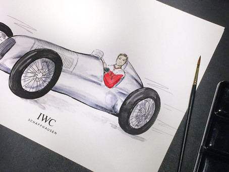 Live illustrations for IWC Schaffhausen