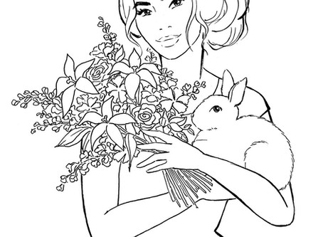 Free Easter colouring sheet