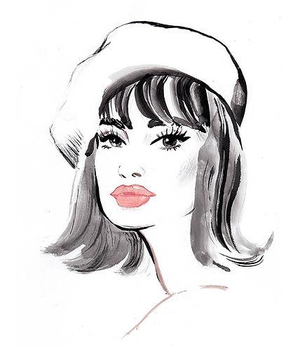 456 - Jane Shrimpton fashion portrait we