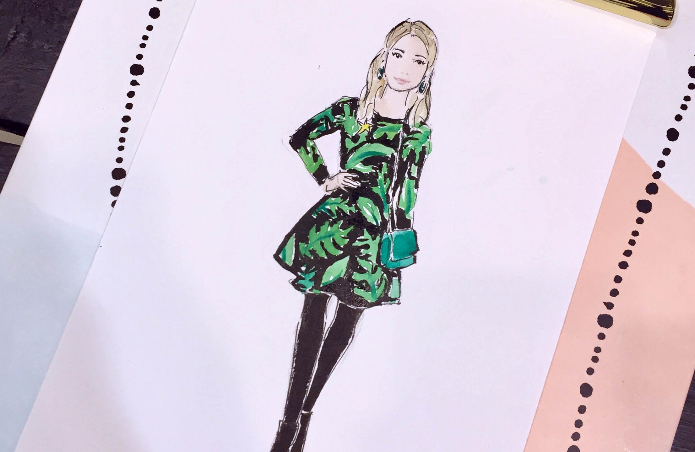 Live illustration at Buining Fashion