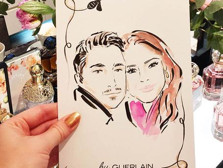 Live illustration for Guerlain in Dusseldorf!