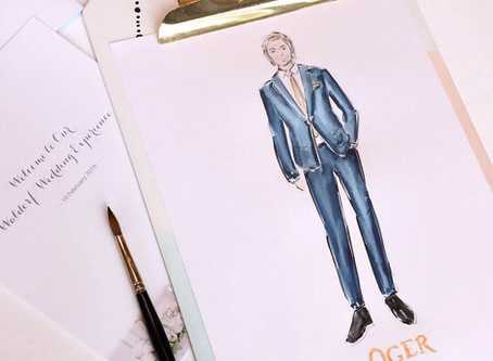 Live illustrations for Oger at the Waldorf Wedding Experience