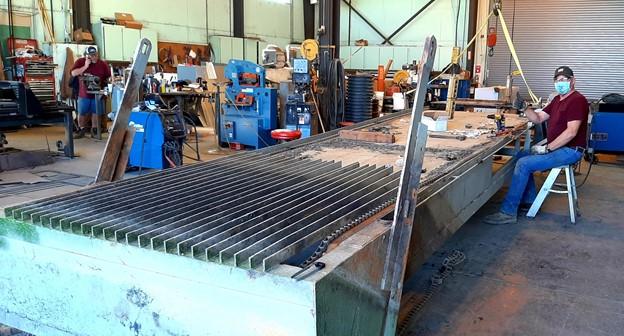 Electric trash rack repairs00 Electric trash rack repairs