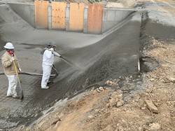 Appling Gunite to check replacements 21-2 and 32-2