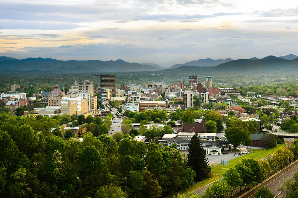 The skyline of downtown Asheville, North