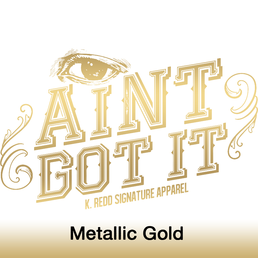 I ain't got it_metallic gold