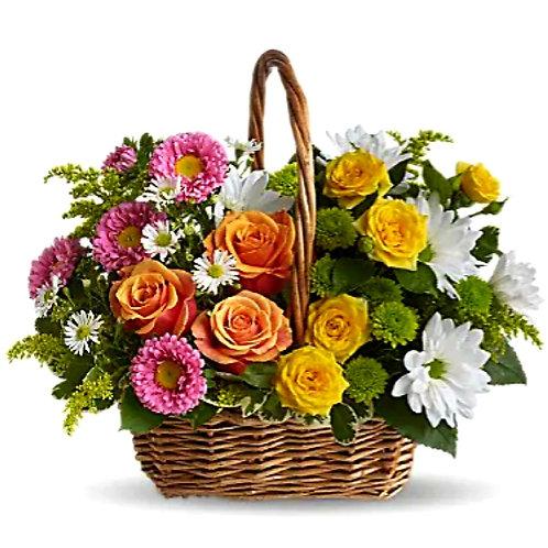 Summer Blooms Basket