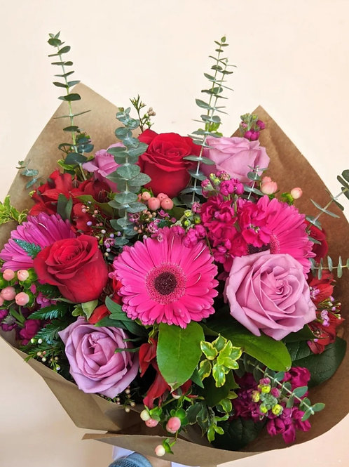 Beautiful Bright Wrapped Bouquet