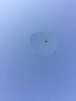 Flugzeug über Mallorca