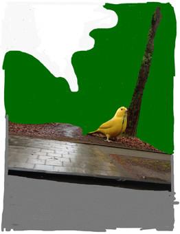 Vogel am Baum