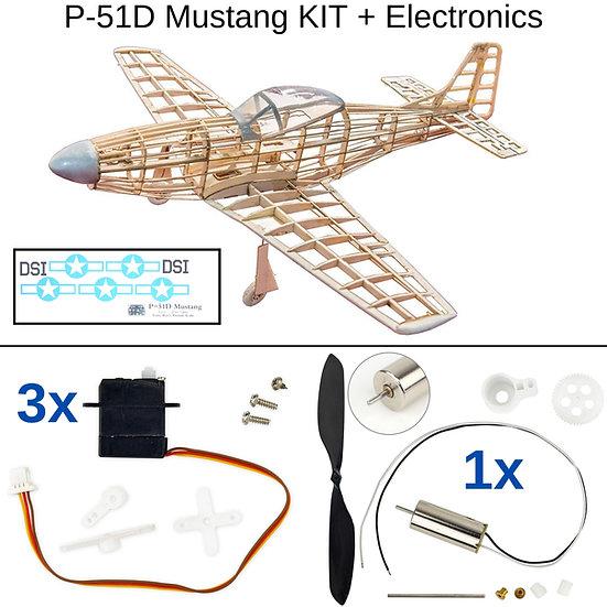 mustang p51d kit, balsa holz bausatz, mini modellflieger baukasten, micro modellflugzeug bausatz, modellflugzeug selber bauen
