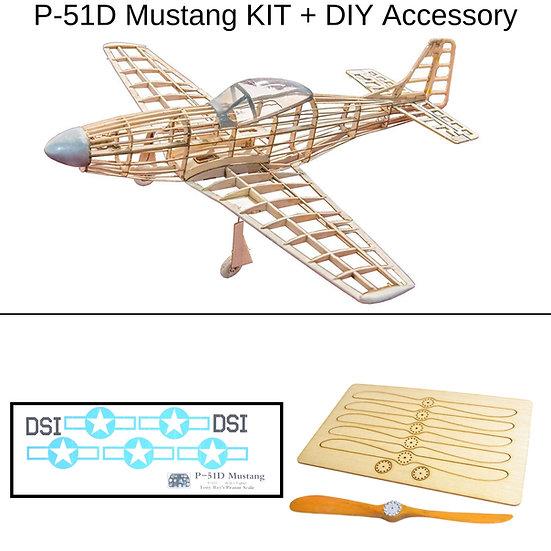 Slow flyer baukasten, p51d mustang kit, balsa holz bausatz, mini p51d modellflieger baukasten, micro modellflugzeug bausatz,
