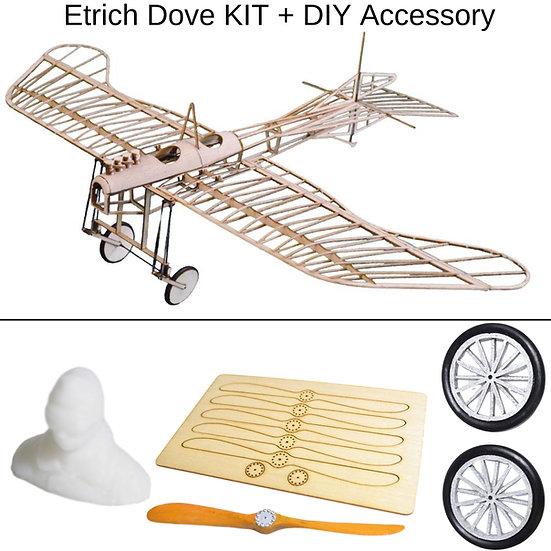 etrich dove zum selber bauen, etrich taube micro flyer, etrich taube aus balsa holz, etrich dove rc flugzeug, etrich rc