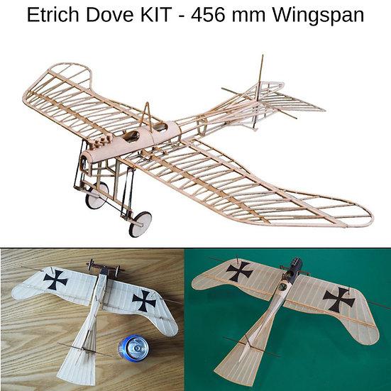 etrich taube slow flyer, modellflugzeug etrich taube, flugzeugmodell etrich taube, bausatz etrich taube, baukasten etrich dov