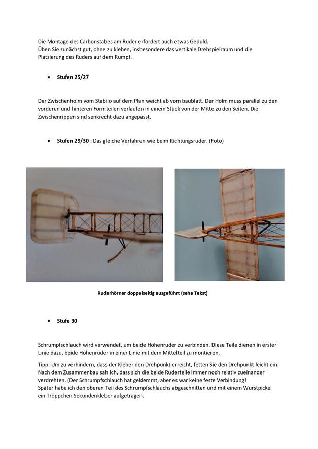 Ausführugen zum Bau der Blériot Seite 4