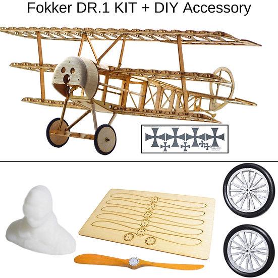 fokker dr1 slow flyer, fokker dr1 modellflugzeug, fokker dr1 flugzeugmodell, fokker dr1 selber bauen, fokker dr1 park flyer,