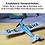Slow flyer baukasten, humming bird kit, standmodellbau balsa holz, kleines standflugzeug selber bauen,balsa holz bausatz, min