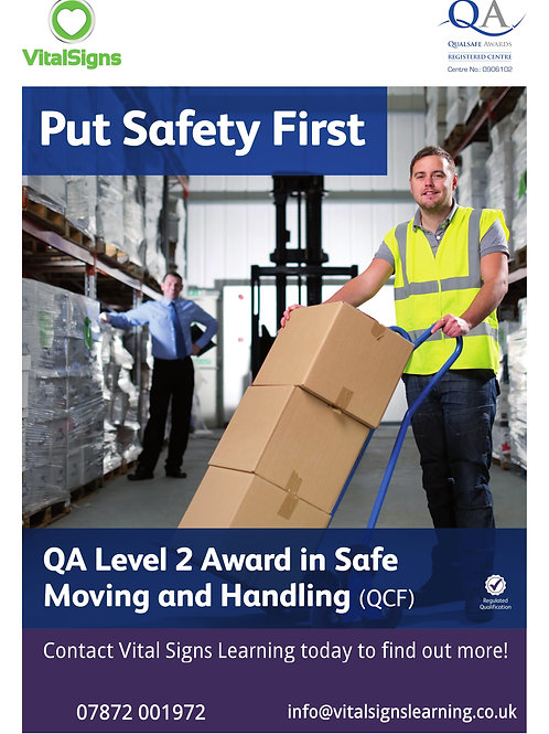 QA Level 2 Award in Safe Moving and Handling (QCF)