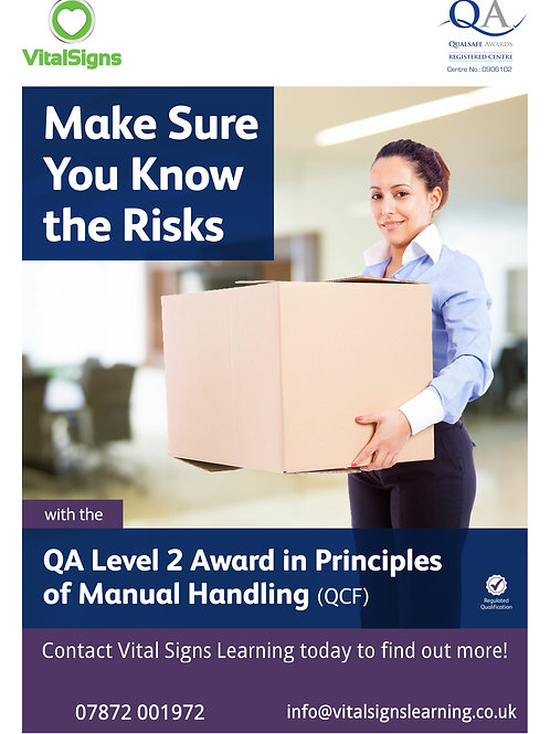 QA Level 2 Award in Principles of Manual Handling