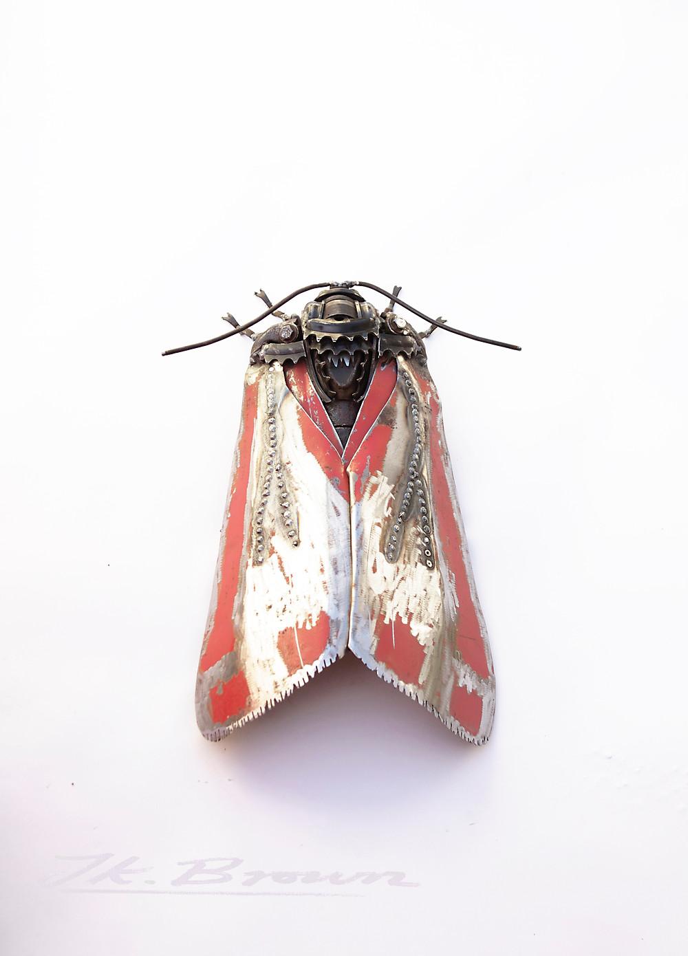 Cinnabar Moth. 2019. Scrap Metal.