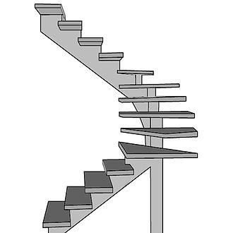 Escada Pré Moldada em Concreto Viga Centrl