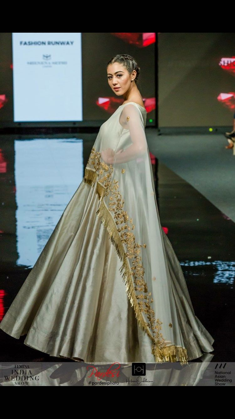 Attached Dupatta Gown