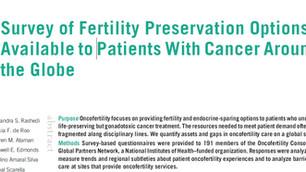 Opções para a  preservação da fertilidade Disponíveis para pacientes com câncer ao redor do Mundo