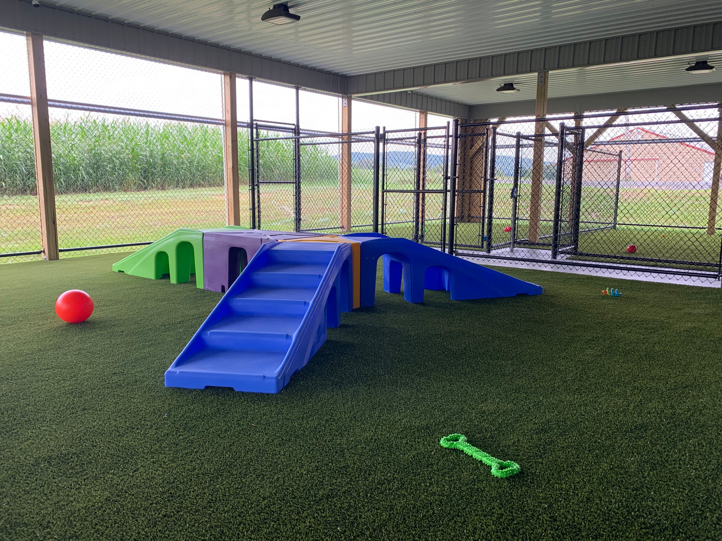 K9 Playground in our Outdoor Daycare Space