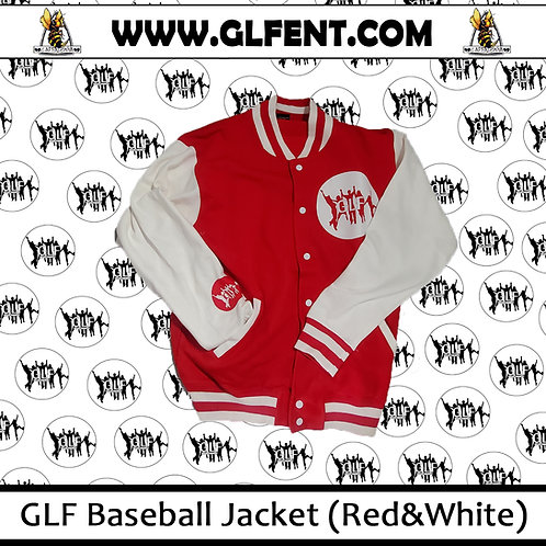 GLF Baseball Jacket (White On Red)