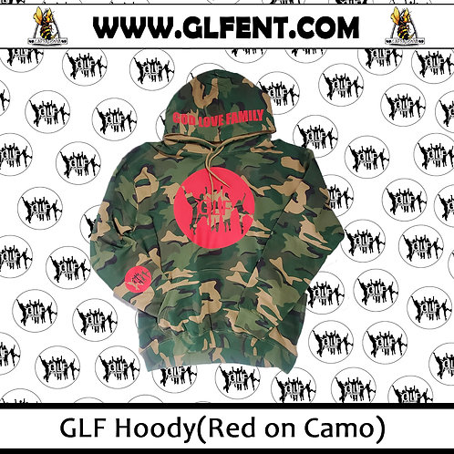 GLF Camo Hoody (Red On Camo)