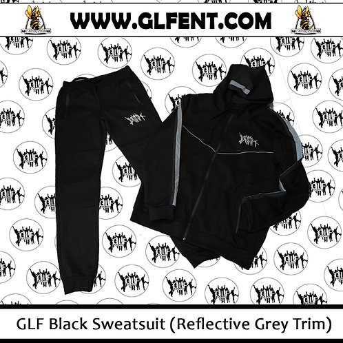 GLF Black Sweatsuit (Reflective Grey Trim)