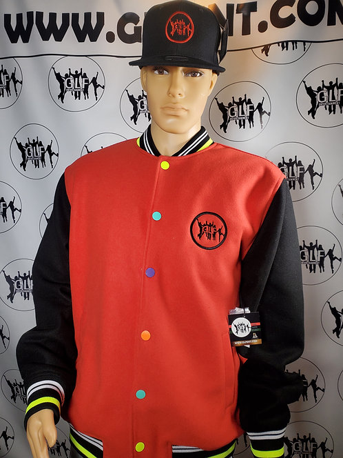 GLF Embroidered Sport Jacket (Red & Black) w/Hat
