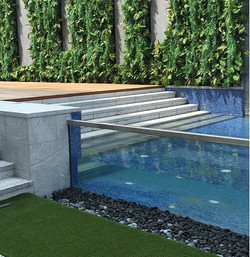 5m glass pool side view
