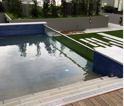 5m glass pool top view