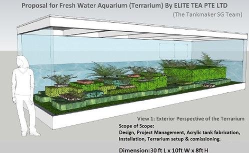 9 meter Acrylic Terraium Tank