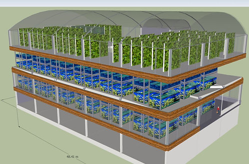 Aquaponics Factory (1400 sq m)